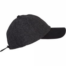 Mens Herringbone Wool Baseball Cap