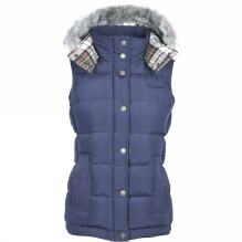 Womens Gilet With Fur Trim Hood