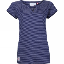 Womens Stripe Notch Tee