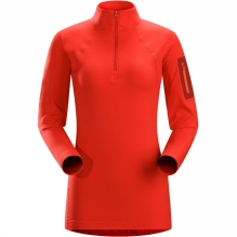 Womens Rho LT Zip Neck Top