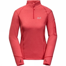 Womens Silver Sky Half Zip Top