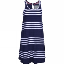 Womens Nautical Stripe Sleeveless Dress