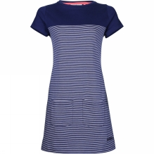 Womens Nautical Stripe Pocket Dress