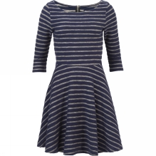Womens Jaquard Stripe Dress