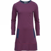 Womens Stripe Long Sleeve Dress
