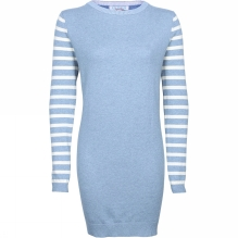 Womens Stripe Sleeve Tunic Dress