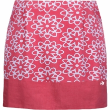 Womens Coral Tile Print Skirt