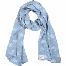 Womens Birds and Clouds Scarf
