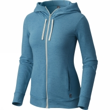Womens Burned Out Full Zip Hoody