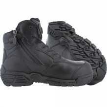Stealth Force 6.0 Side Zip Toe Bumper Composite Toe and Plate Boot