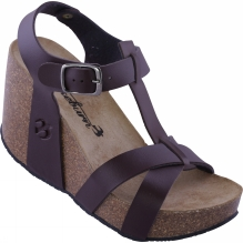 Womens Leather Wedge Sandal