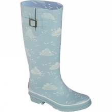 Womens Birds and Clouds Welly