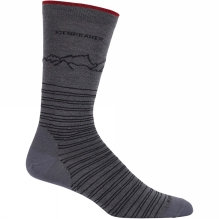 Mens Lifestyle Fine Gauge Crew Approach Sock