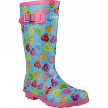 Kids Button Heart Welly