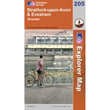 Explorer Map 205 Stratford-upon-Avon and Evesham