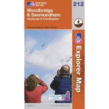 Explorer Map 212 Woodbridge and Saxmundham