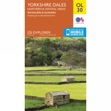 Explorer Map OL30 Yorkshire Dales - Northern and Central