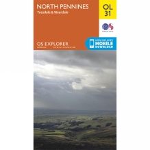 Explorer Map OL31 North Pennines - Teesdale and Weardale