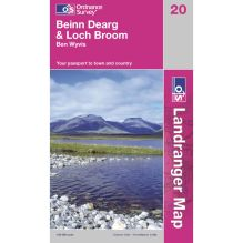 Landranger Map 20 Beinn Dearg and Lock Broom