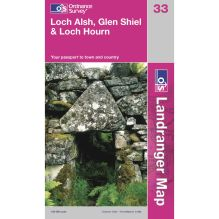 Landranger Map 33 Loch Aish, Glen Shiel and Loch Hourn