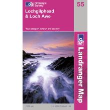Landranger Map 55 Loch Gilphead and Loch Awe