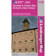 Landranger Map 116 Denbigh and Colwyn Bay