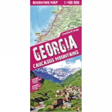 Georgia Caucasus Mountains: Adventure Map