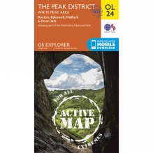 Active Explorer Map OL24 The Peak District - White Peak Area