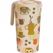 Bamboo Pitcher and 4 Cups