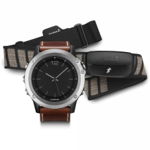 Fenix 3 Sapphire Leather GPS Watch Performer Bundle