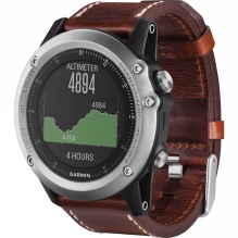 Fenix 3 Sapphire Leather GPS Watch
