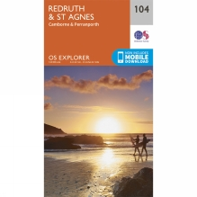 Explorer Map 104 Redruth and St Agnes