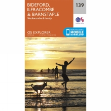 Explorer Map 139 Bideford, Ilfracombe and Barnstaple