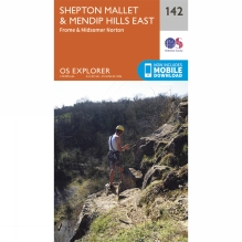 Explorer Map 142 Shepton Mallet and Mendip Hills East