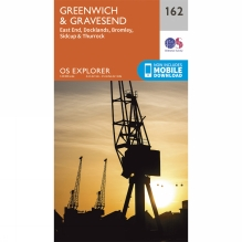 Explorer Map 162 Greenwich and Gravesend
