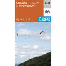 Explorer Map 168 Stroud, Tetbury and Malmesbury