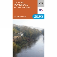 Explorer Map 242 Telford, Ironbridge and The Wrekin