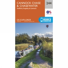 Explorer Map 244 Cannock Chase and Chasewater