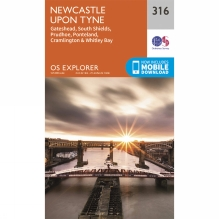 Explorer Map 316 Newcastle upon Tyne