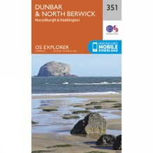 Explorer Map 351 Dunbar and North Berwick