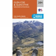 Explorer Map 384 Glen Coe and Glen Etive