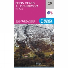 Landranger Map 20 Beinn Dearg and Loch Broom