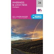Landranger Map 26 Inverness and Loch Ness