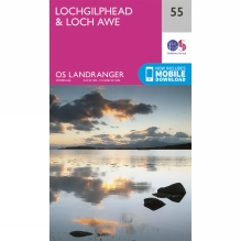 Landranger Map 55 Lochgilphead and Loch Awe