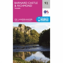 Landranger Map 92 Barnard Castle and Richmond