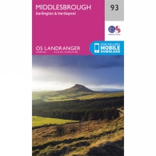 Landranger Map 93 Middlesbrough