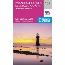 Landranger Map 159 Swansea and Gower