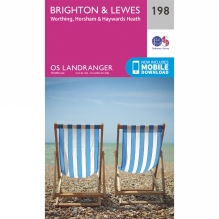Landranger Map 198 Brighton and Lewes