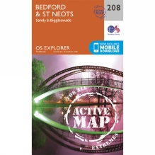 Active Explorer Map 208 Bedford and St Neots