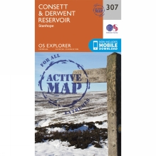 Active Explorer Map 307 Consett and Derwent Reservoir